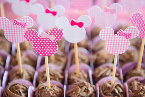 Festa de aniversário delicada da Minnie