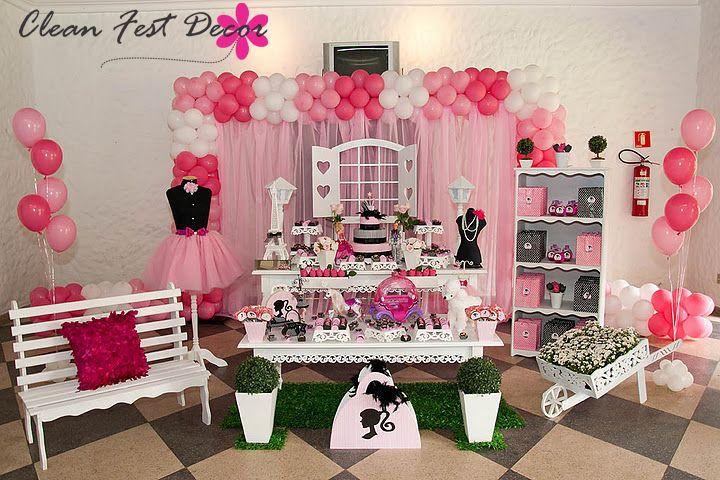 Decoração de aniversário da Barbie
