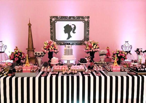 Decoração de aniversário Barbie em Paris