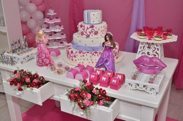 Decoração Barbie clássica cor de rosa