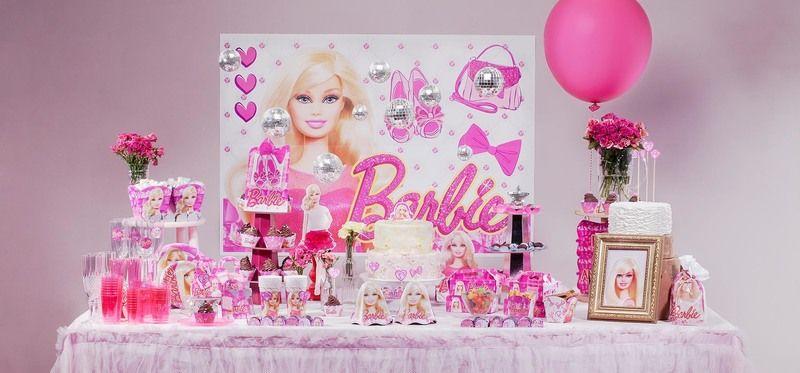 decoração infantil de aniversário da Barbie