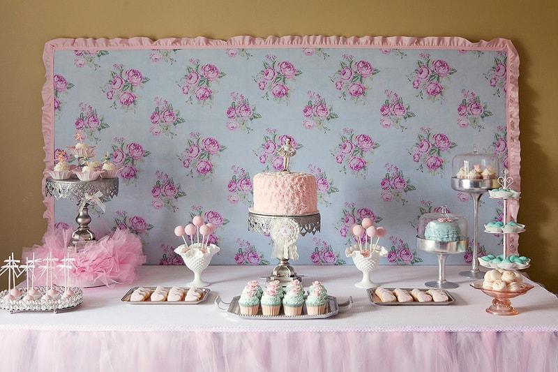 bolo e decoração para festa de aniversário tema bailarina