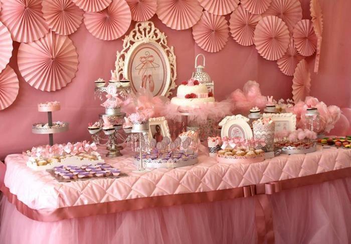 linda decoração para festa de aniversário de meninas tema bailarina