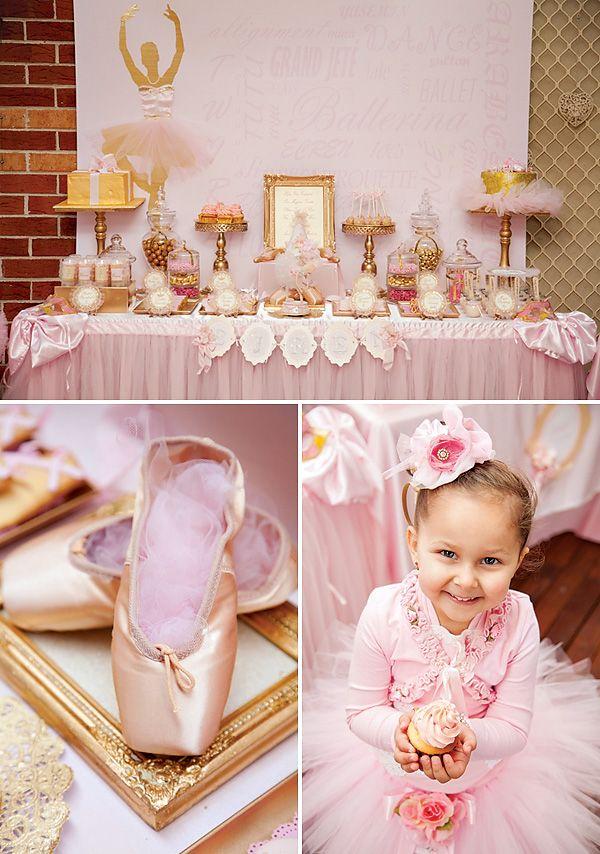 Decoração de aniversário infantil de Bailarina