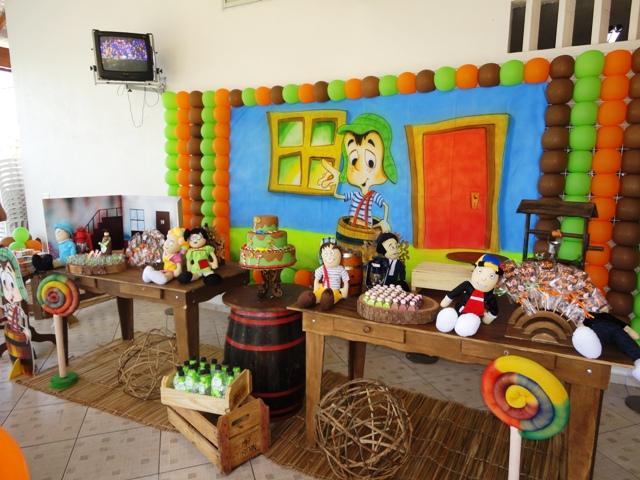 Decoração rústica da Vila do Chaves
