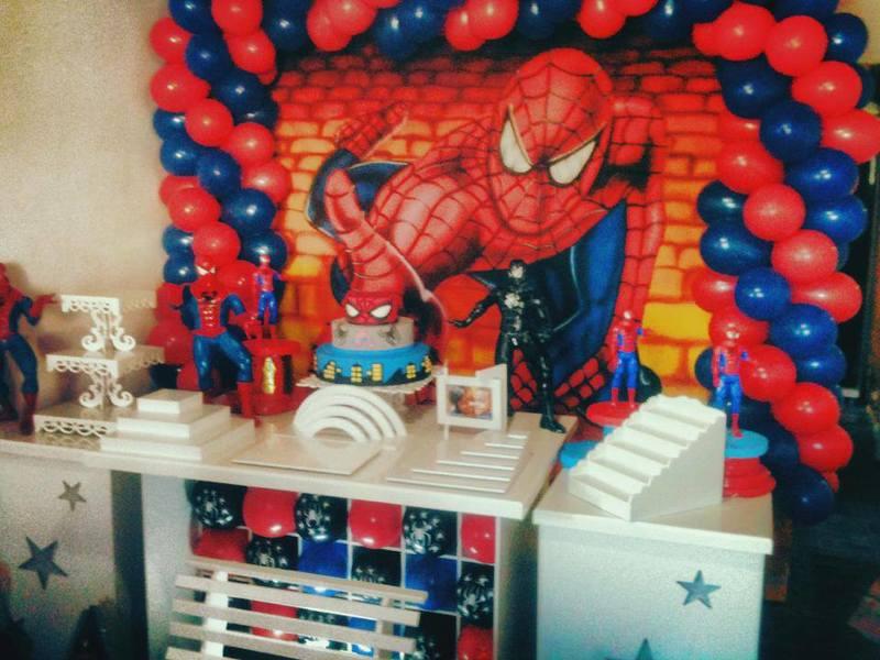 Decoração de Festa de Aniversário do Homem Aranha