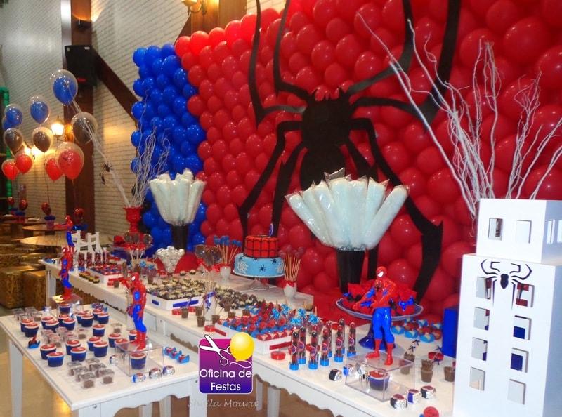painel decorativo do Homem aranha