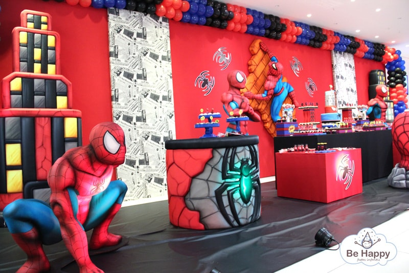 Decoração de aniversário do Homem Aranha