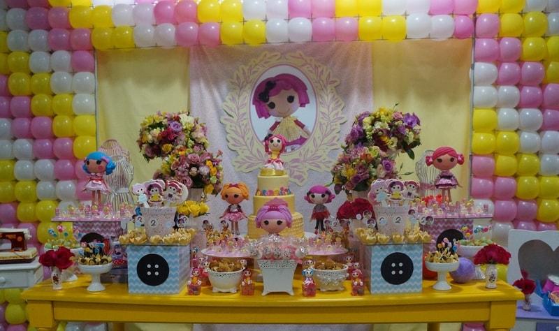 decoração de aniversário tema Lalaloopsy