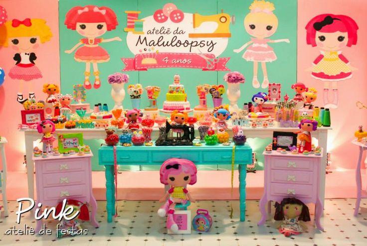 Festa de aniversário temática da Lalaloopsy