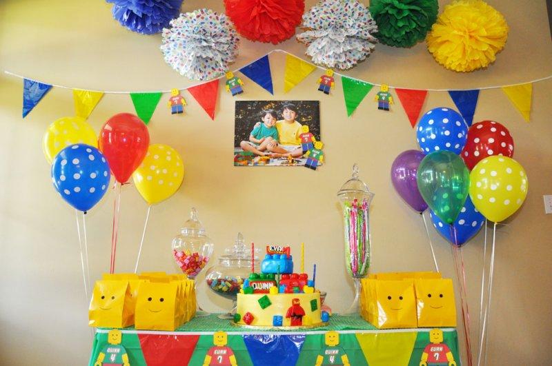 Festa de aniversário do lego para meninos