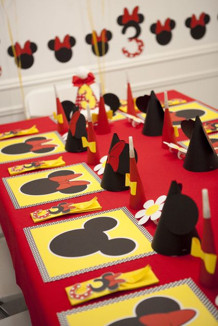 Decoração de festa de aniversário do Mickey Mouse