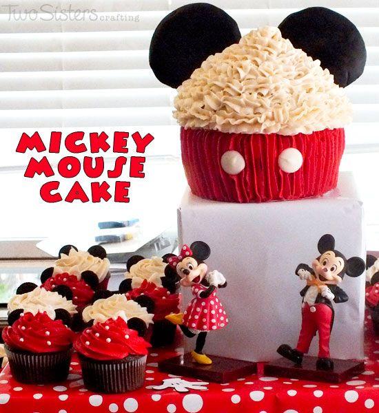 Aniversário do Mickey Mouse - Decoração, bolo e cupcakes