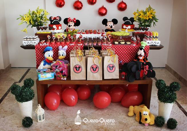 decoração de aniversário festa do mickey