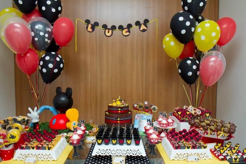 Decoração de aniversário do MIckey Mouse
