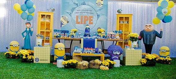 decoração de festa temática dos Minions