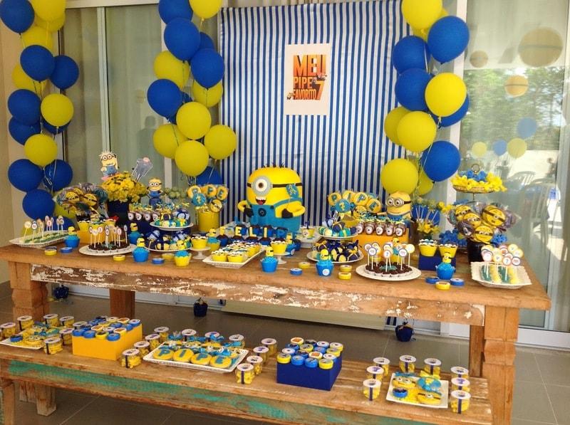 Festa decorada dos Minions