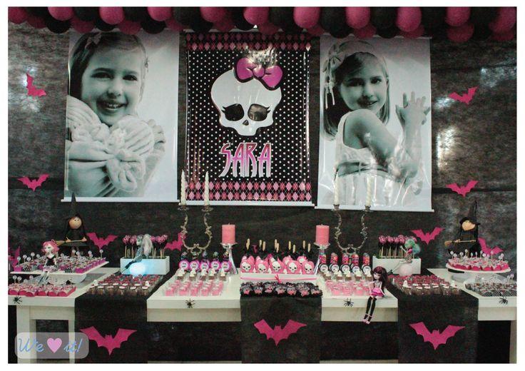 Decoração de aniversário da Monster High