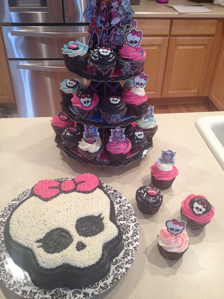 decoração de festa de aniversário das personagens de Monster High