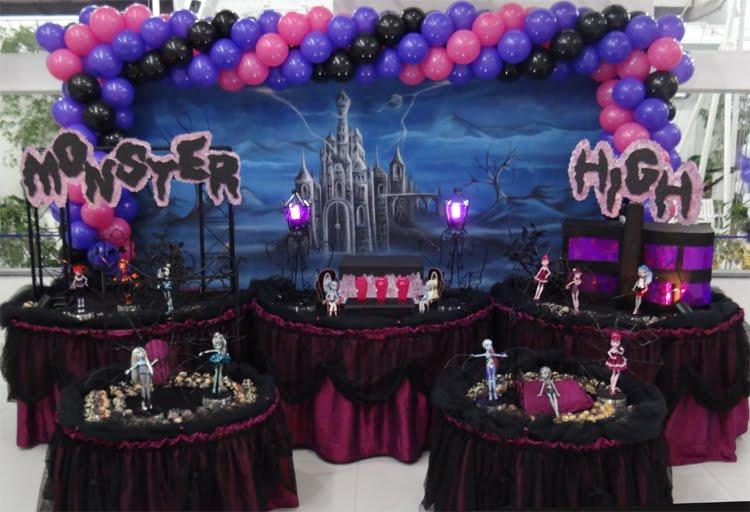 Decoração escura Monster High
