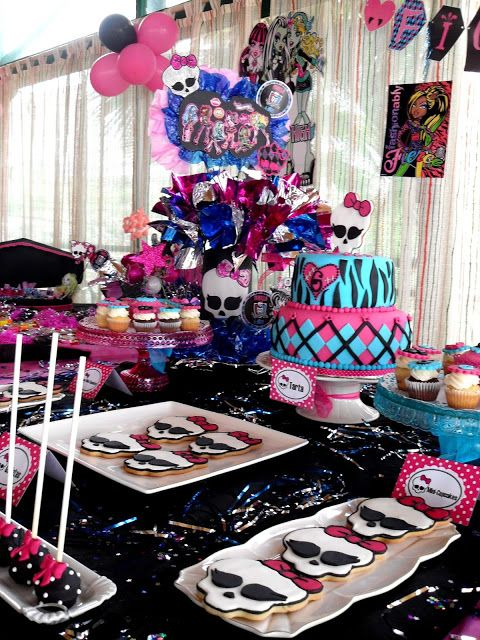 Festa Monster High decorada