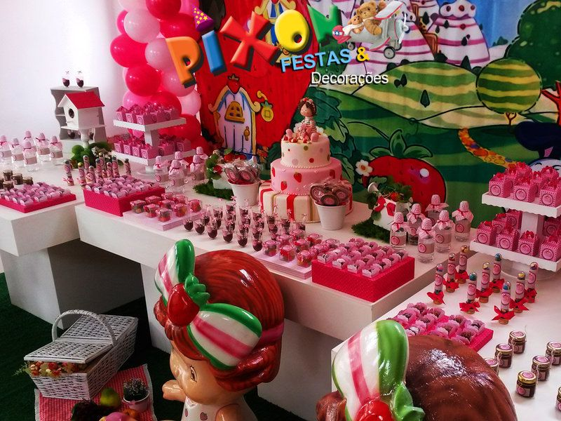 Festa decorada da Moranguinho