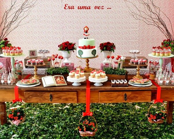 Festa de aniversário temática da Moranguinho