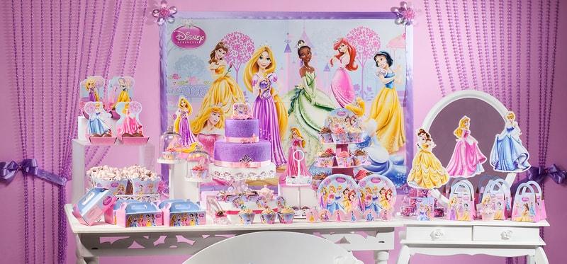 festa temática de princesas da disney