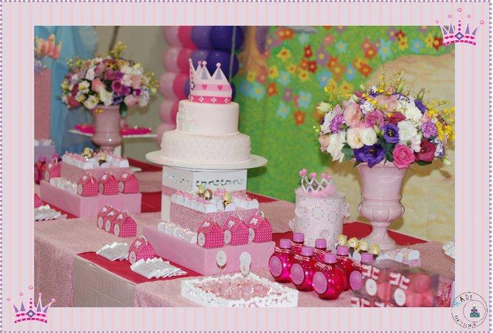 pesta infantil de princesas decoração