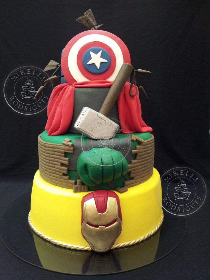 bolo decorativo dos vingadores