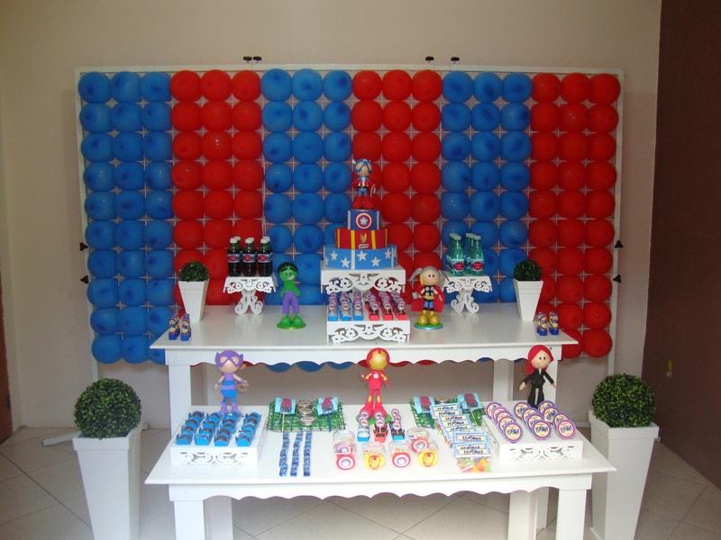 Festa de aniversário infantil dos vingadores