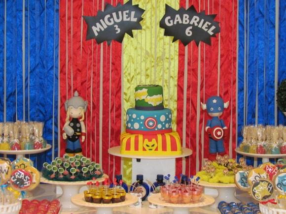 Festa de aniversário temática dos Vongadores