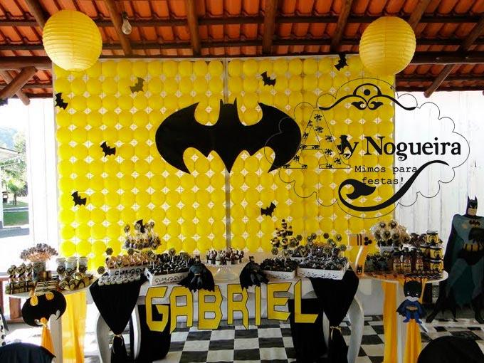 Festa de aniversário decorada do Batman