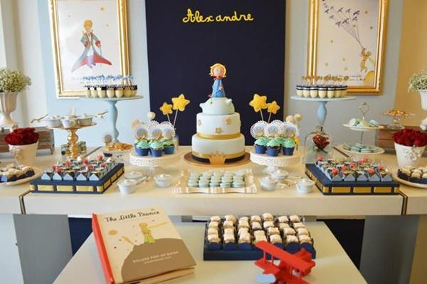 Decoração de aniversário do Pequeno príncipe para festa infantil