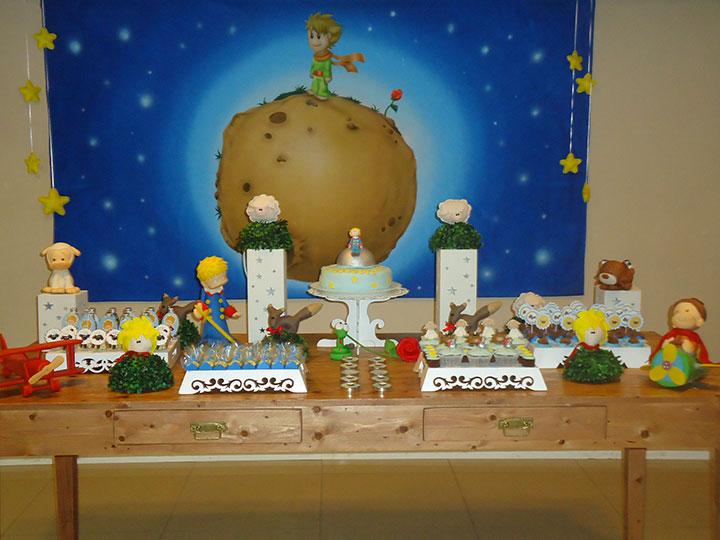 Decoração rústica para festa de aniversário do pequeno príncipe