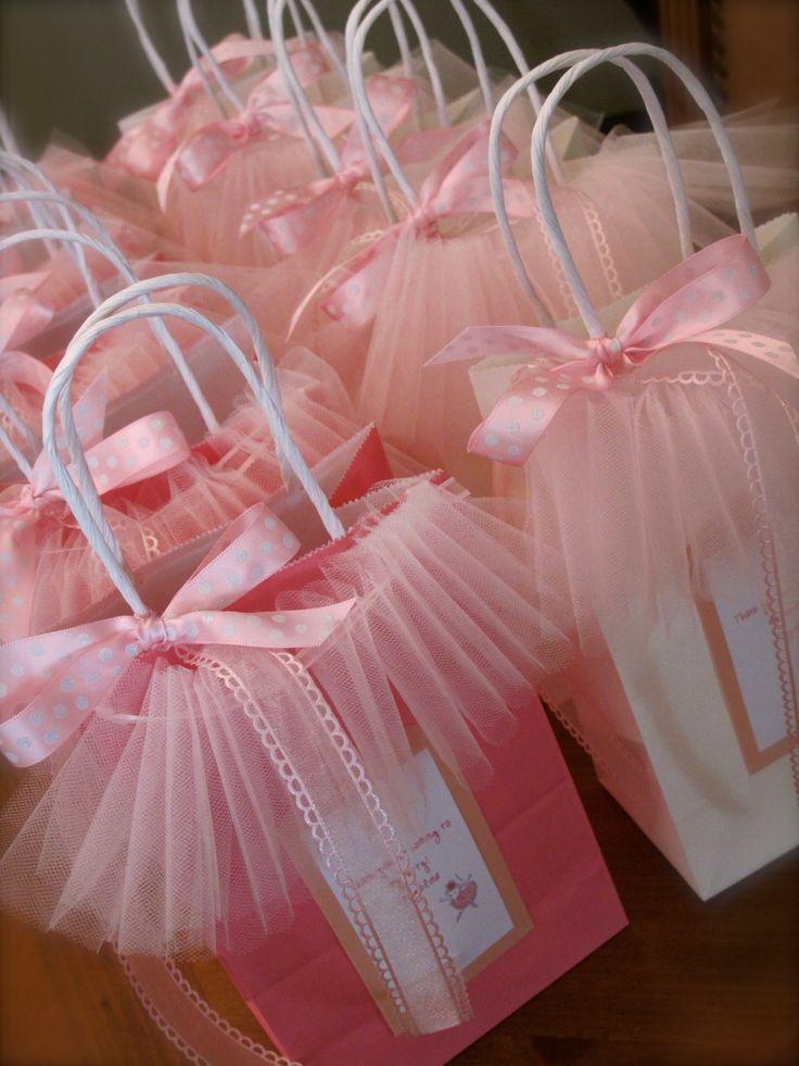 Sacolinhas decoradas para lembrancinhas de bailarina