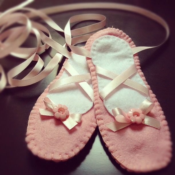 Lembrancinha de festa de bailarina - sapatilha