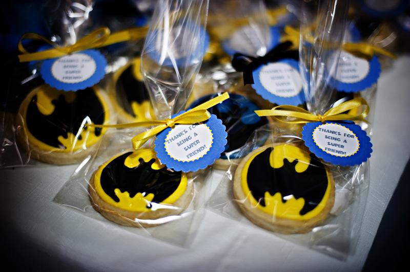 Bolachinhas decorativas de aniversário do Batman