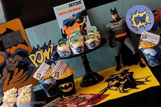 Lembrancinhas decorativas de aniversário do Batman