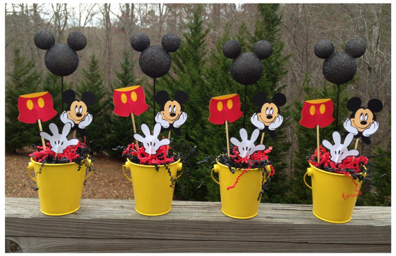 Potinhos decorados do Mickey Mouse