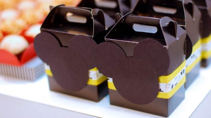 Lembrancinha de Aniversário do Mickey - Sacolinha com o tema do personagem