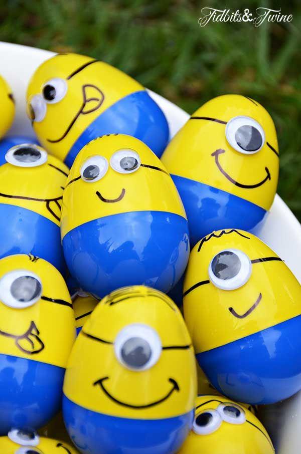 Ovinhos decorados dos Minions para festa dos personagens
