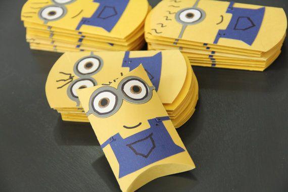 Pacotinhos de papel lembrancinha festa Minions