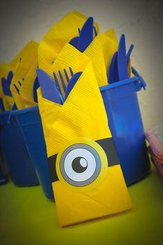 lencinhos decorados personalizados dos Minions