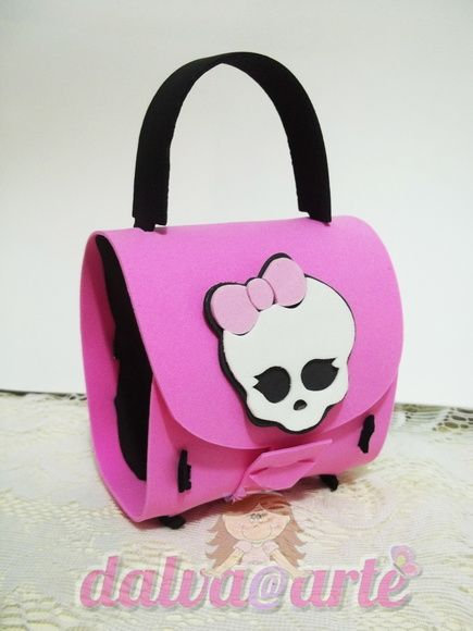 Bolsa lembrancinha festa Monster High