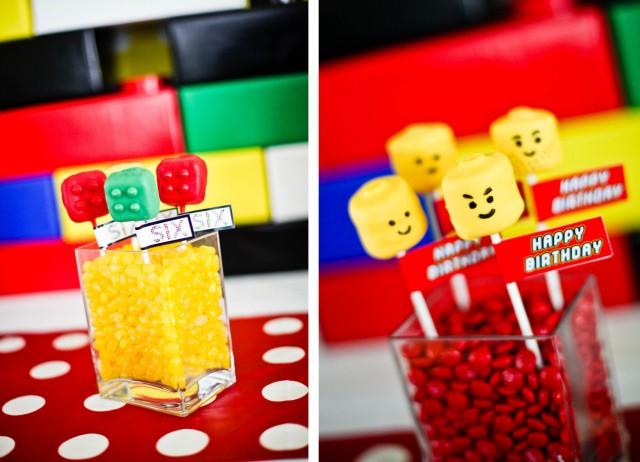 Docinhos de aniversário da Lego - docinhos