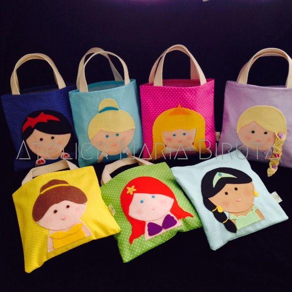 sacolinhas de lembrancinhas para aniversário de princesas