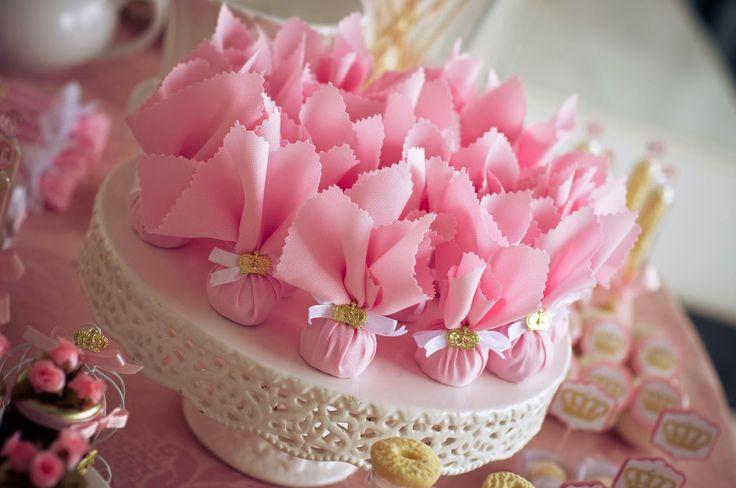 lembrancinhas - saquinhos de aroma para festa de princesas
