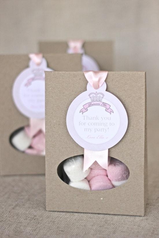sacolinha de doces temática para aniversário de princesas