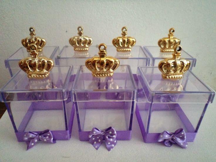 caixinha de lembrança de aniversário de princesas